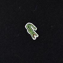 Men's Lacoste v Neck Pure Wool Jumper Black Size 6 / Xl P-P 25
