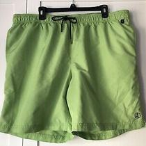 Men's Lands' End Bathing Suit Size Xl 40-42 Green Photo