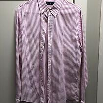Mens Large Polo Ralph Lauren Pink Stripe Shirt Photo