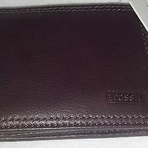 Men's Leather Fossil Wallet- Great Gift Photo