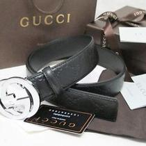 Men's Leather Gucci  Belt G Buckle  Size 105cm Photo