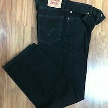 Men's Levi's 550 Relaxed Fit Jeans Size 33x32 Black Red Tab Tapered Leg Photo
