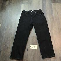 Men's Levis 550 Relaxed Fit Black Jeans Size 38 X 30 Straight Leg  Euc Photo