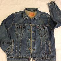 Men's Levis Trucker Jacket Xl Classic  Gently Worn Slight Wear on Collar Photo