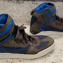 Men's Lightly Used Diesel S-Seyene High Top Shoes Size 9 U.s  Blue & Gray Photo