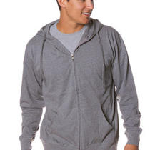 Men's Lightweight Jersey Beach Hoodie Unlined Full Zip 4 Colors S M L Xl 2x Photo