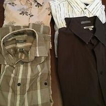 Mens Longsleeve Shirts Lot of 4-- Express -Banner and Guess Size Medium Photo