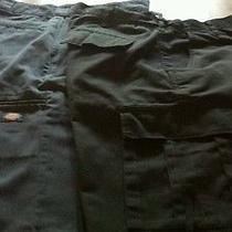 Men's Lot of 2 Pairs Shorts Size 38 Black Cargo Shorts and Blue Dickies Shorts Photo
