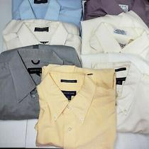Men's Lot of 7 Long Sleeve Button Down Dress Casual Shirts Size M Enro Lands End Photo