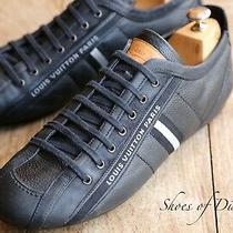 Men's Louis Vuitton Black Leather Shoes Trainers Sneakers Uk 9.5 Us 10.5 Photo