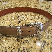 Men's Lucchese Buck Oiled Calf Belt Cowboy Western Size 36 Photo