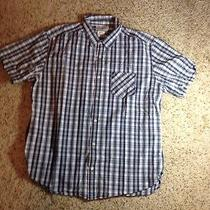 Men's Lucky Brand  Button Down Shirt Checks. X Large Shortsleeve. Ked Photo