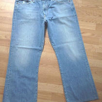 Men's Lucky Brand Fender Relaxed Straight Leg Jeans 38 X 30 Excellent 751 Photo
