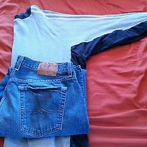 Men's Lucky Brand Jeans Sz 38 and Adidas Shirt Photo