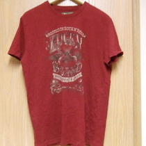 Men's  Lucky Brand Red Tshirt. Size M Photo