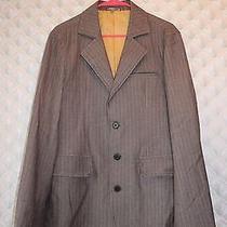 Men's M Woven Button Down Suit Jacket by Fossiltan/gold Weave Photo