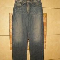 Men's Marciano Guess Distressed Boot Cut Denim Blue Jeans Pants 34 X 34 Photo