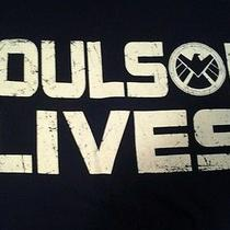 Men's - Marvel Agents of Shield Coulson Lives T-Shirt M - Navy Blue Nwt Avengers Photo