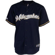 Men's Milwaukee Brewers Replica Rickie Weeks Alternate Road Jersey Extra Large Photo