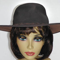 Men's Minnetonka Foldable Leather Hat - Brown - Medium - Nice Photo