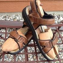 Men's Minnetonka Light Natural Leather Adjustable Straps Comfort Sandal Sz 10 Photo