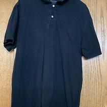 Mens Mossimo Black Short Sleeve Polo Shirt Size Xl Athletic Fit 100% Cotton Photo