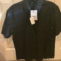 Men's Navy (White Dots) Medium Short Sleeve Shirt (Brand New With Tags) Photo