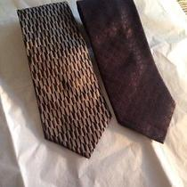 Men's Necktie by Robert Talectt Studio and Dkny Pure Silk Excellent Condition Photo