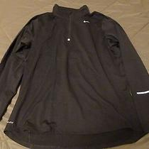 Men's Nike Element Dri-Fit 1/4 Zip Shirt Running Training Black Size Large L Photo