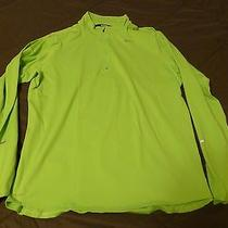 Men's Nike Element Dri-Fit 1/4 Zip Shirt Running Training Neon Green Large L Photo