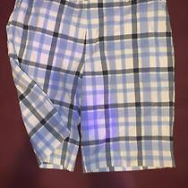 Mens Nike Golf Shorts Dri Fit Size 36 Blue Plaid Photo