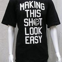 Men's Nike Make This Shot Look Easy Black Graphic T Shirt Size Xl Photo