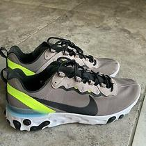Mens Nike React Element 55 Shoes Pumice Black White Bq6166201 Size 11.5 Running Photo