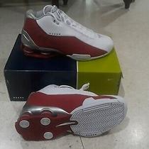 Men's Nike Shox Bb4 Vince Carter White Silver Red Mens Size At7843 101 Nwb Photo
