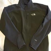 Men's North Face Jacket Green Medium Water Resistant Photo
