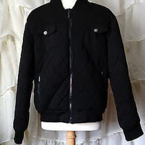 Men's Pacsun Urban Outfitters Bomber Jacket Black Grunge Size M Photo