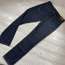 Mens Paige Federal Straight Jeans Sz 34x32  Mens Dark Blue Denim Pants Y97 Photo