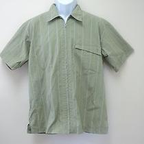 Men's Patagonia Hiking Outdoors Shirt Zip Front Short Sleeve Small S - Euc  Photo