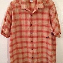 Men's Patagonia Organic Cotton Plaid Button Front Plaid Shirt Mens L Romania Photo