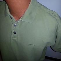 Men's Patagonia Polo Shirt Green Medium M Solid Photo