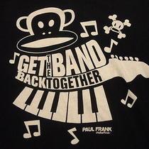 Men's Paul Frank Get the Band Back Together  Xl T Shirt Monkey Piano Keys Black Photo