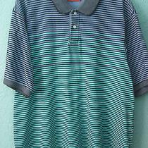 Men's  Payne Stewart Blue/black/green Striped Polo Shirt Size Xxl Photo