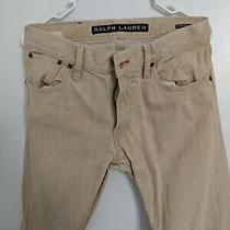 Men's Polo Ralph Lauren Black Label Jeans Creme 30 X 32 New Photo