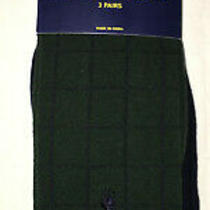 Mens Polo Ralph Lauren Dress Socks Green Blue Size 10-13 New (3 Pair) Photo
