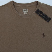 Men's Polo Ralph Lauren Heather Brown L/s Tee Shirt T-Shirt Medium M Nwt New Photo