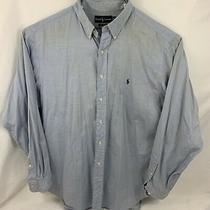 Mens  Polo Ralph Lauren Light Blue Long Sleeve Button Up Size 17 36/37 Photo