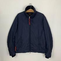 Mens Prada Nylon Jacket Windbreaker Navy Blue Size Large Photo