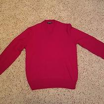 Men's Red Express v-Neck Sweater Size Medium Photo