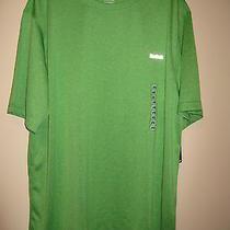 Men's Reebok Athletic Workout Shirt Short Sleeved Green Nwt Size Large Photo