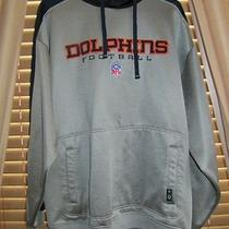 Men's Reebok Nfl Dolphins Sport Sweater Size Xl Excellent Condition Photo